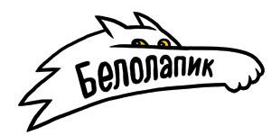 """Логотип интернет-магазина """"Белолапик"""""""